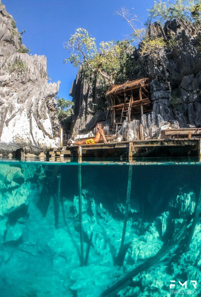 Baracuda lake Coron Voyage Philippinnes FMR Travelblog light