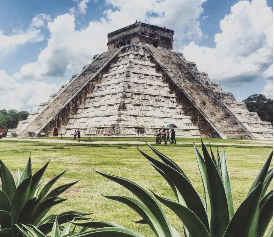 Voyage Yucatan - CHITZEN ITZA ville jaune -