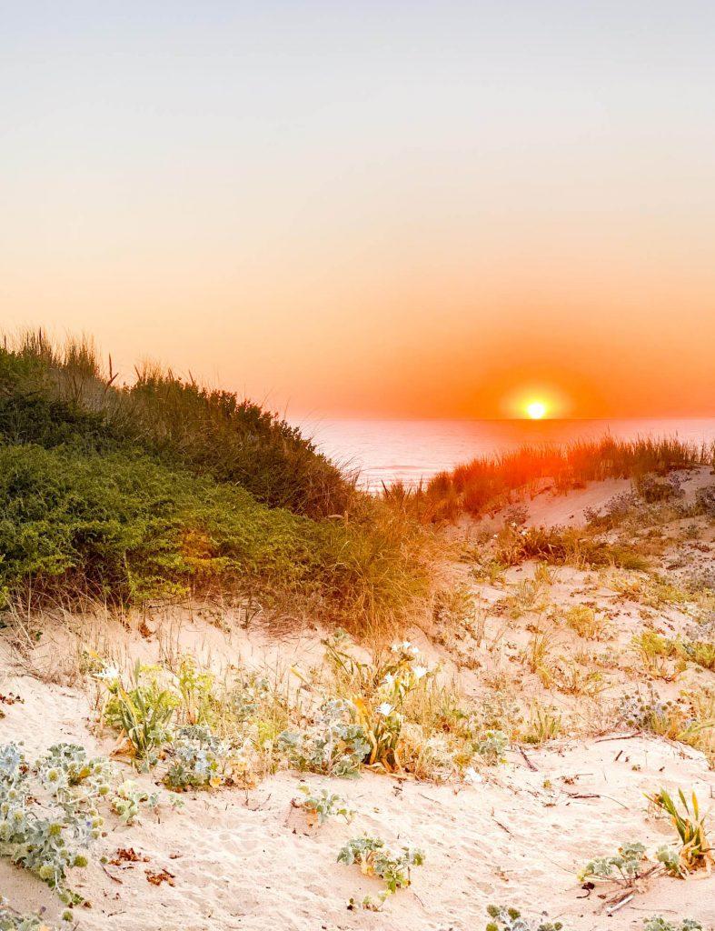 Coucher de soleil Plage Penon